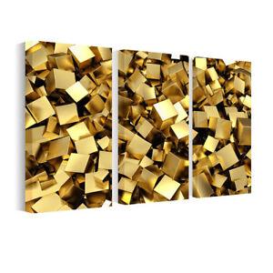 Bild Leinwand Bilder Goldene Würfel, Wandbilder fürs Wohnzimmer ...