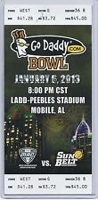 2013 Godaddy.com Bowl Game Full Unused Ticket Kent State Arkansas State