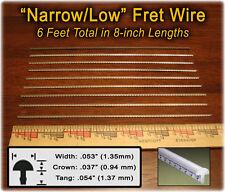 6 Feet NARROW/LOW Frets/Fret Wire for Mandolin, Ukelele, Banjo & more! 10-01-01
