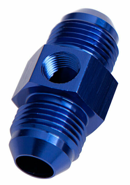 """Aeroflow Straight Male Male -10AN Blue With 1/8"""" NPT Port AF141-10"""