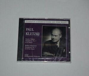 CD-SEALED-NEU-NEW-PAUL-KLETZKI-MAHLER-SYMPHONY-1-SCHIMANN-1-ISRAEL-Preiser-90730