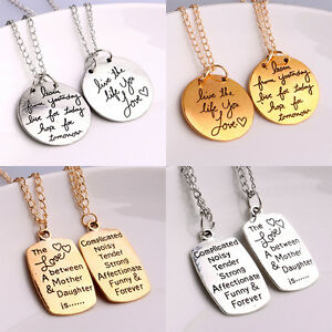 Charm pendant necklace inspiration quotes words mother daughter image is loading charm pendant necklace inspiration quotes words mother daughter aloadofball Image collections