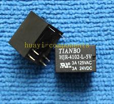 10pcs ORIGINAL & Brand New HJR-4102-L-5V HJR-4102-L-05V 3A 125VAC TIANBO Relay