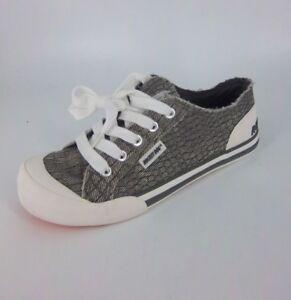 Rocket-Dog-Jazzin-Canvas-Sneaker-039-s-Grey-White-Size-UK-4-EU-37-NH0888-BB-10