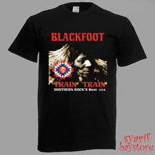 Blackfoot Band Train-Train Album Cover Men/'s Black T-Shirt Size S M L XL 2XL 3XL