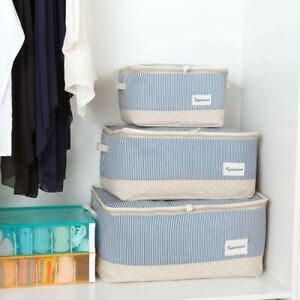 Closet-Fabric-W-Zipper-Clothes-Storage-Box-Container-Organizer-Bags-Waterproof