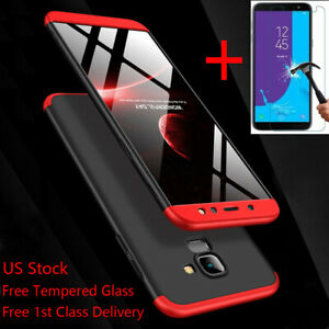 For-Samsung-Galaxy-A6-J8-J4-J6-Plus-2018-Shockproof-360-Slim-Case-Tempered-Glass