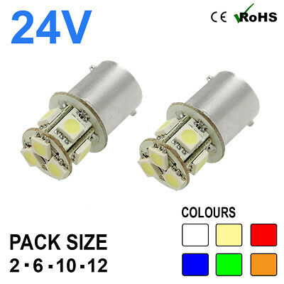 2 x 246 Side Tail Light Car Auto Van Bike Bulb Bulbs Lamps 24v 10w