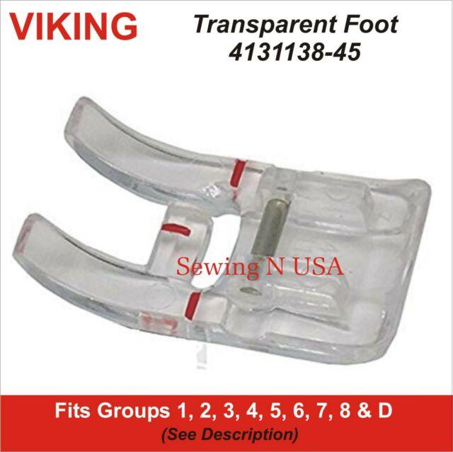 #4131138-45 For Husqvarna Viking Sewing Machine Transparent Foot B