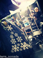 Christmas Snowflakes Tree Kit Vinyl Stickers Snowflakes Window Dressing XMAS