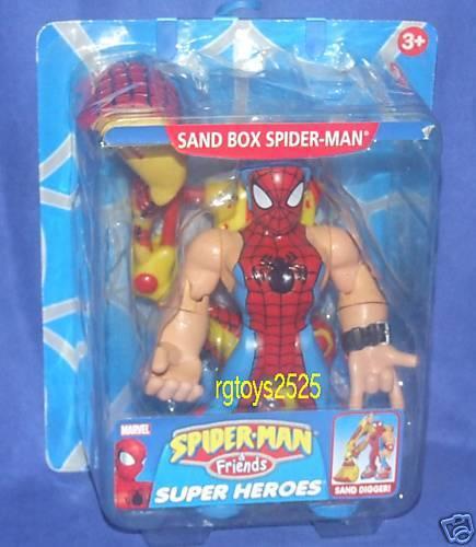 Spiderman & Friends Sand Box SPIDER-MAN New Marvel Factory Sealed