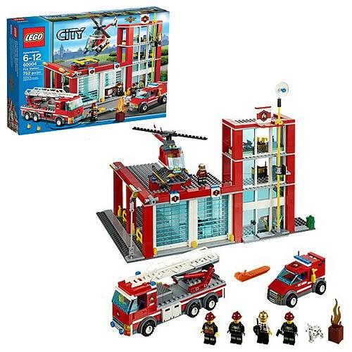 Lego City New Sealed Set 60004 Fire House Station RARE New