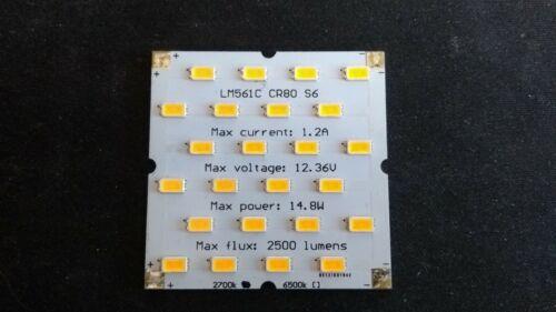 2700k LM561C CR80 S6 LED board kit module 24 high power 14W 12V 2500 lm grow