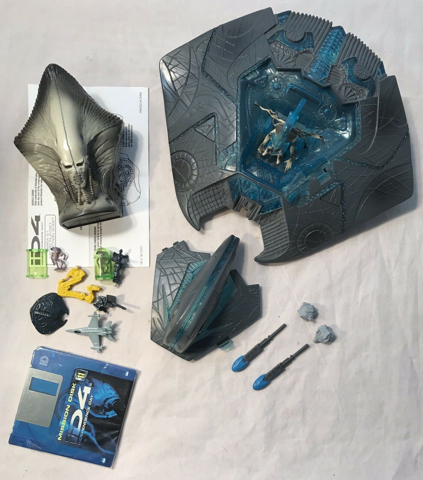 Independence Day iD4 Electronic Alien Attacker Micro Playset Lot Trendmasters