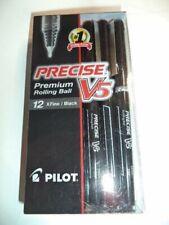 12 Pilot V5 Black Ink Precise Pens X Fine 05mm Rolling Ball 35380 Pv5 Blk Cb