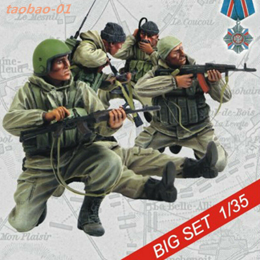 1 35 resin figures model Russian soldiers special forces 5 man RN1724 garage kit