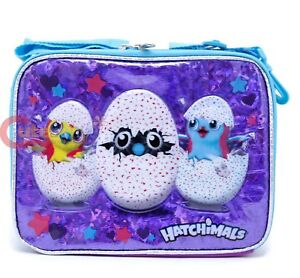 ec8a57f50cd4 Details about Hatchimals School Lunch Bag Insulated Pail Box Snack Bag