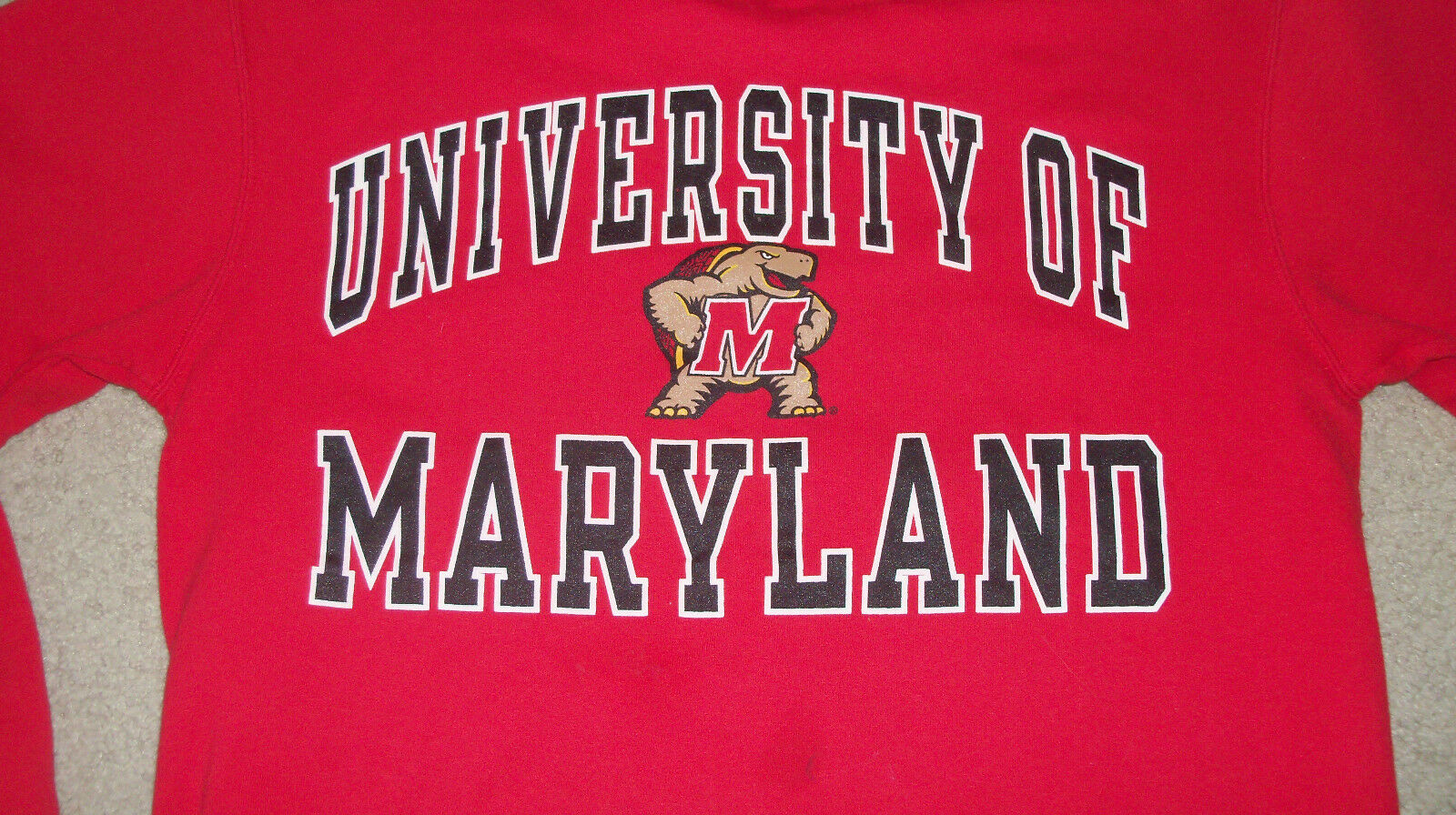 Vintage 90s UNVERSITY OF MARYLAND Sweatshirt by Champion SMALL Mens Womens Terps