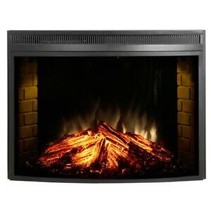 Image Is Loading Muskoka 33 034 Curved Glass Front Electric Heater