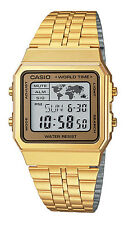 Casio watch digital retro world time a500wa a500wga uk seller gold casio a500wga 9 mens retro gold tone world time alarm chronograph digital watch gumiabroncs Images