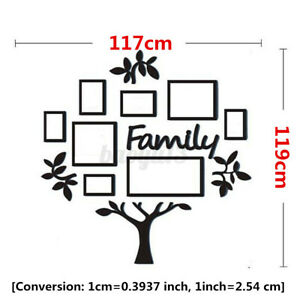 Large Family Tree Picture Photo Frame Set Home Wall Decal Collage Sticker Decor