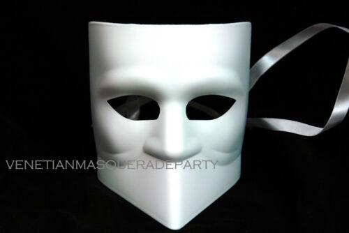 DIY Halloween Unpainted White Masquerade Mask Doctor Wolf Purge Sugar Skull Bat