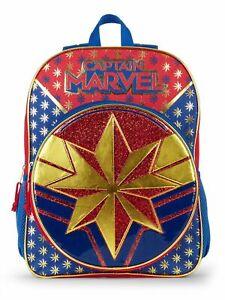 Warner-Bros-Captain-Marvel-16-034-Backpack-School-Book-Bag-Tote-Full-Size