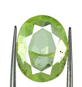 7.75 Ct Oval Pakistan Peridot Eye Clean Gemstone 100% Natural Certified L9861