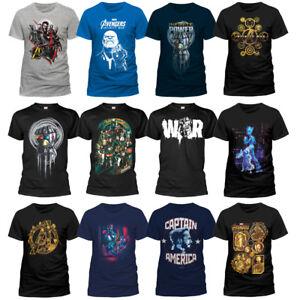Officiel-Avengers-Infinity-War-Marvel-Thanos-Infinity-Gauntlet-T-shirt-Homme