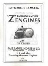 Fairbanks Morse Z R 2 3 6 Hp Hit Amp Miss Engine Manual