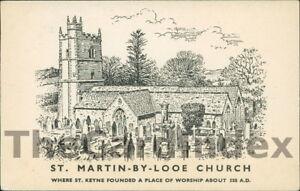 ST-MARTIN-BY-LOOE-St-Martin-By-Looe-Church-Postcard-nr-Looe-CORNWALL-SCILLY-I