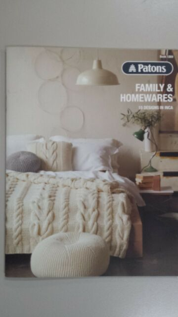 Patons Family Homewares 15 Designs In Inca Knitting Pattern Book