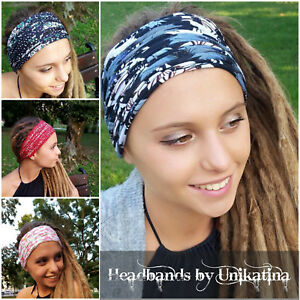 Image is loading Dreadlock-Accessories-Gypsy-Hippie-Boho-Headband-Hair-band- 52c4c82d220b