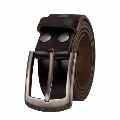 KEEPBLANCE Men's Classic Casual Jean Style Strong Built Genuine Leather Belt