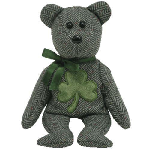 THE GREEN TEDDY BEAR TY 2.0 GENERATION BEANIE MCLUCKY