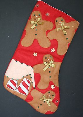 "Large 20 "" GINGERBREAD MEN Applique Felt with Bead ..."