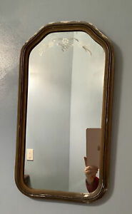 Antique-Etched-Mirror-In-Original-Frame-Vintage-Victorian-Country-Farmhouse