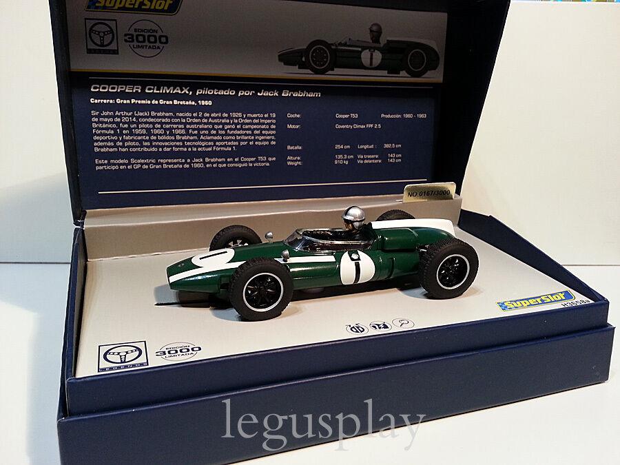 Smassa SCX Scalcextic Supersmassa Legends H3658A Cooper Climax J.Brabham No1