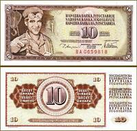 YUGOSLAVIA 10 DINAR 1978 UNC P.87A