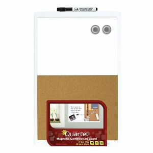 Quartet Dry-Erase Combination Board, Magnetic, 11 x 17 Inches, White Frame (MHOC