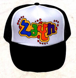 39c61da1 Zayn Your Name Gift Trucker Hats Caps Personalized Custom Graffiti ...