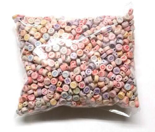 Carta De color Redondo Perlas agujero de 7mm X 3.5mm 2mm Reino Unido Vendedor