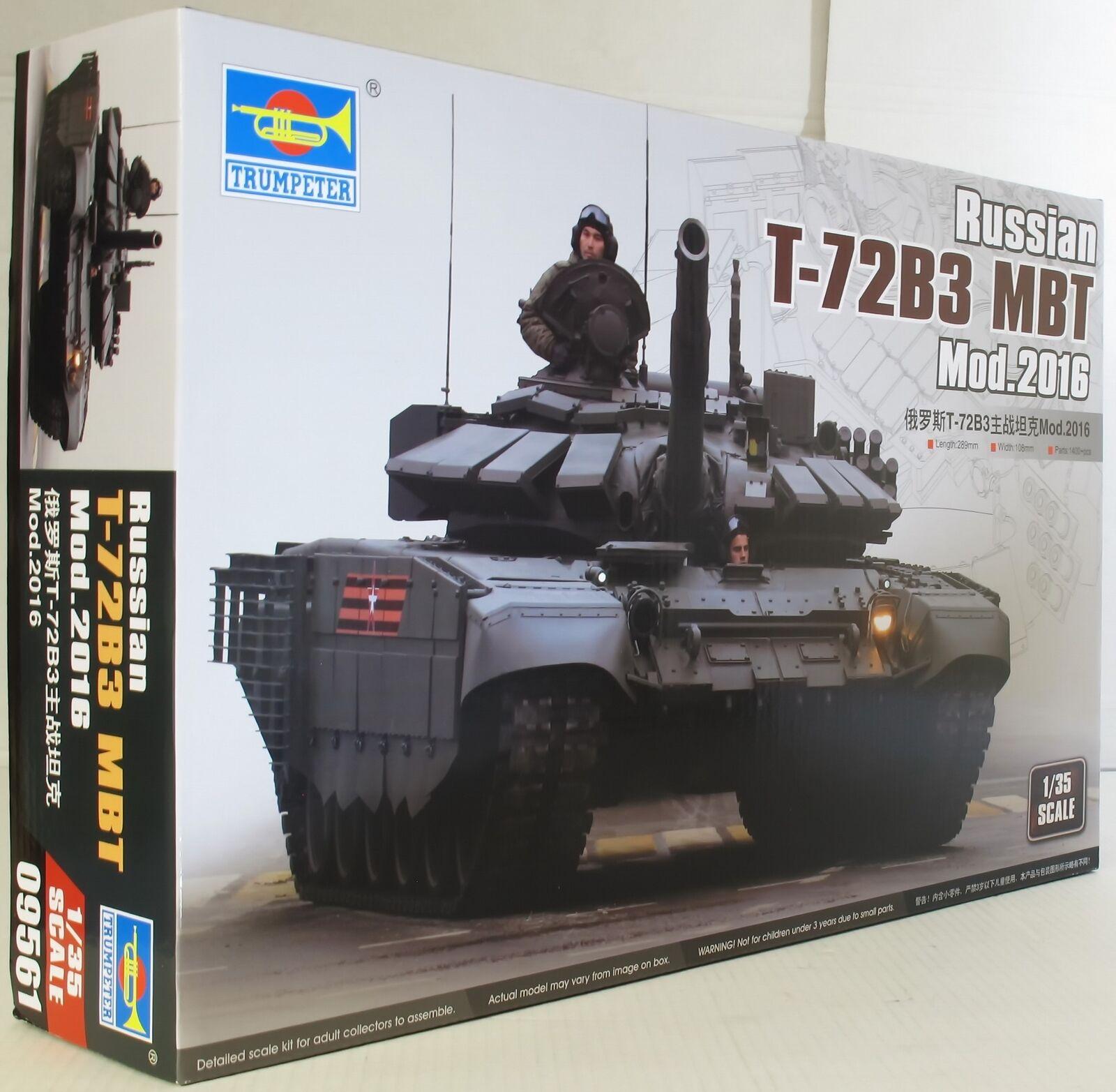 Trumpeter 1 35 09561 Russian T-72B3 MBT Mod 2016 Military Model Kit