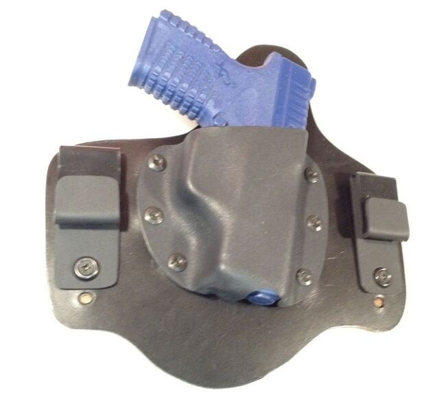 Leather Kydex Holster for Springfield XDS 9mm 40 45 Leather Lined IWB MTO