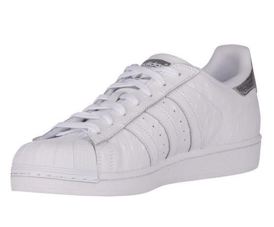 Adidas Uomo originali originali originali superstar bianco / argento metallico (s80341) us9 uk8.5 c6286f