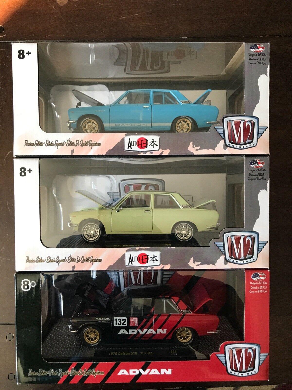 M2 1970 datsun 510 set of three 1 24 scale