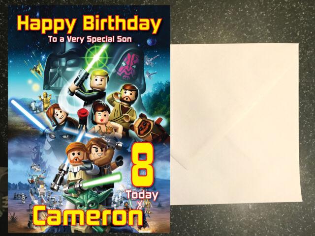 Star Wars Lego Personalised Birthday Card Son Nephew Etc Any Name