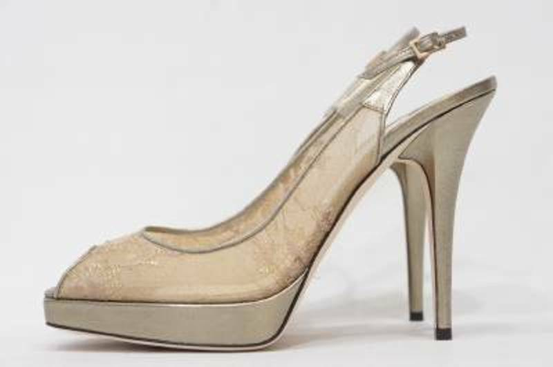 Sz. 8.5 Jimmy Jimmy Jimmy Choo pista con bomba de piel de becerro Encaje Zapatos de plataforma (oro)  comprar ahora