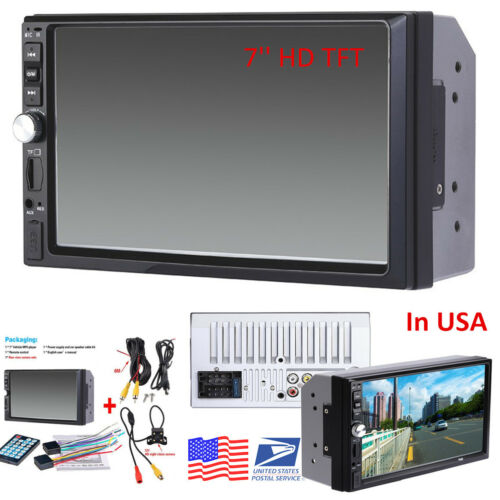 """7/""""HD 2DIN Touch Screen Car Video MP5 MP3 Player Bluetooth Stereo Radio FM+Camera"""
