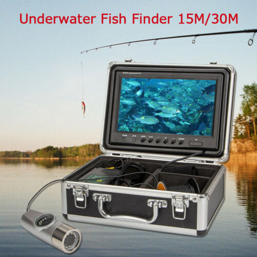 "15M 30M 9/"" Underwater Fishing Video Camera 1200TVL Dual Lens 8GB DVR Fish Finder"